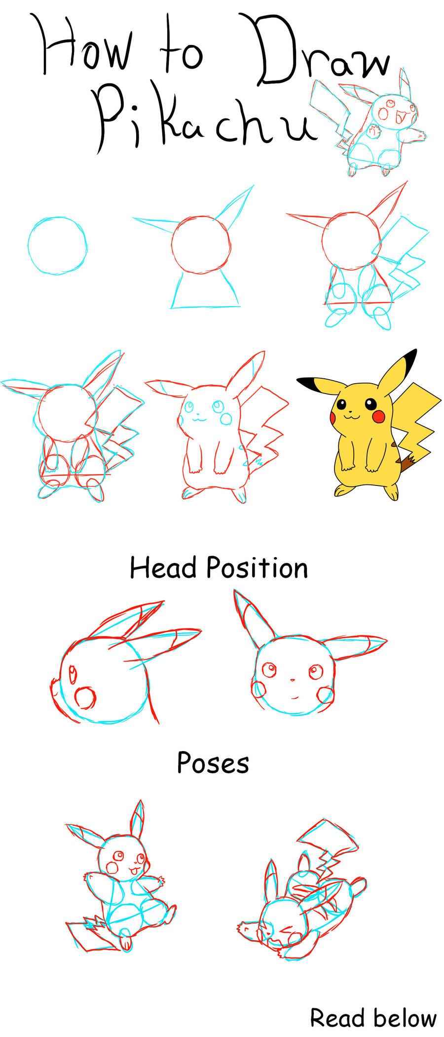 900x2100 How To Draw Pikachu By Pikaaly On Pokemon
