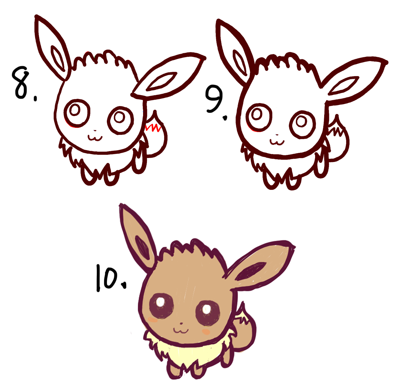 1312x1264 How To Draw Cute Baby Chibi Eevee From Pokemon Easy Step By Step