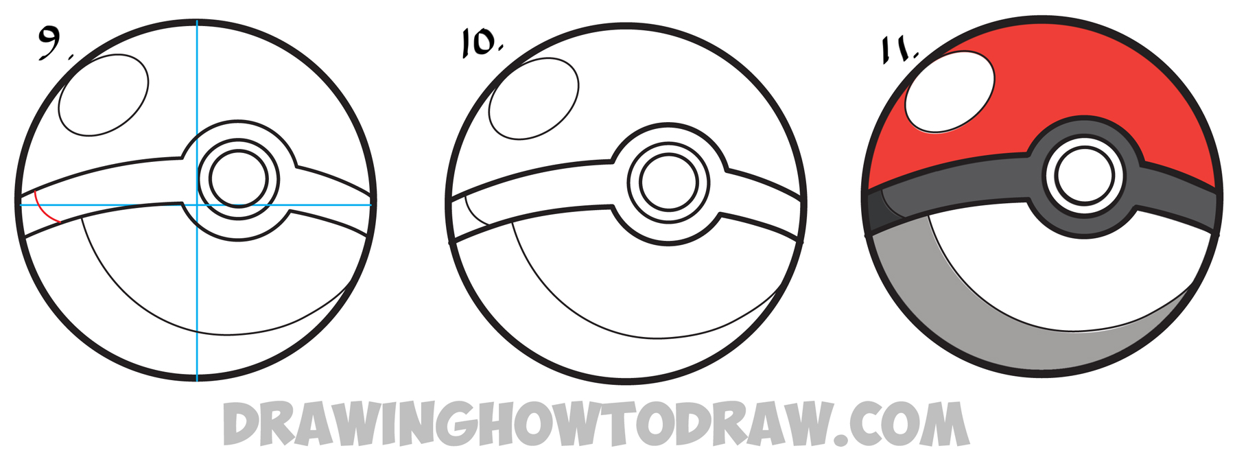 1800x666 How To Draw A Pokeball From Pokemon