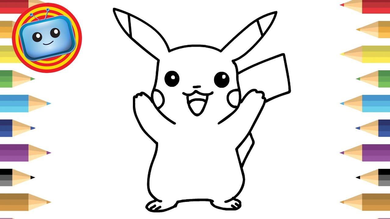 1280x720 How To Draw Pokemon Pikachu Simple Drawing Game Animation
