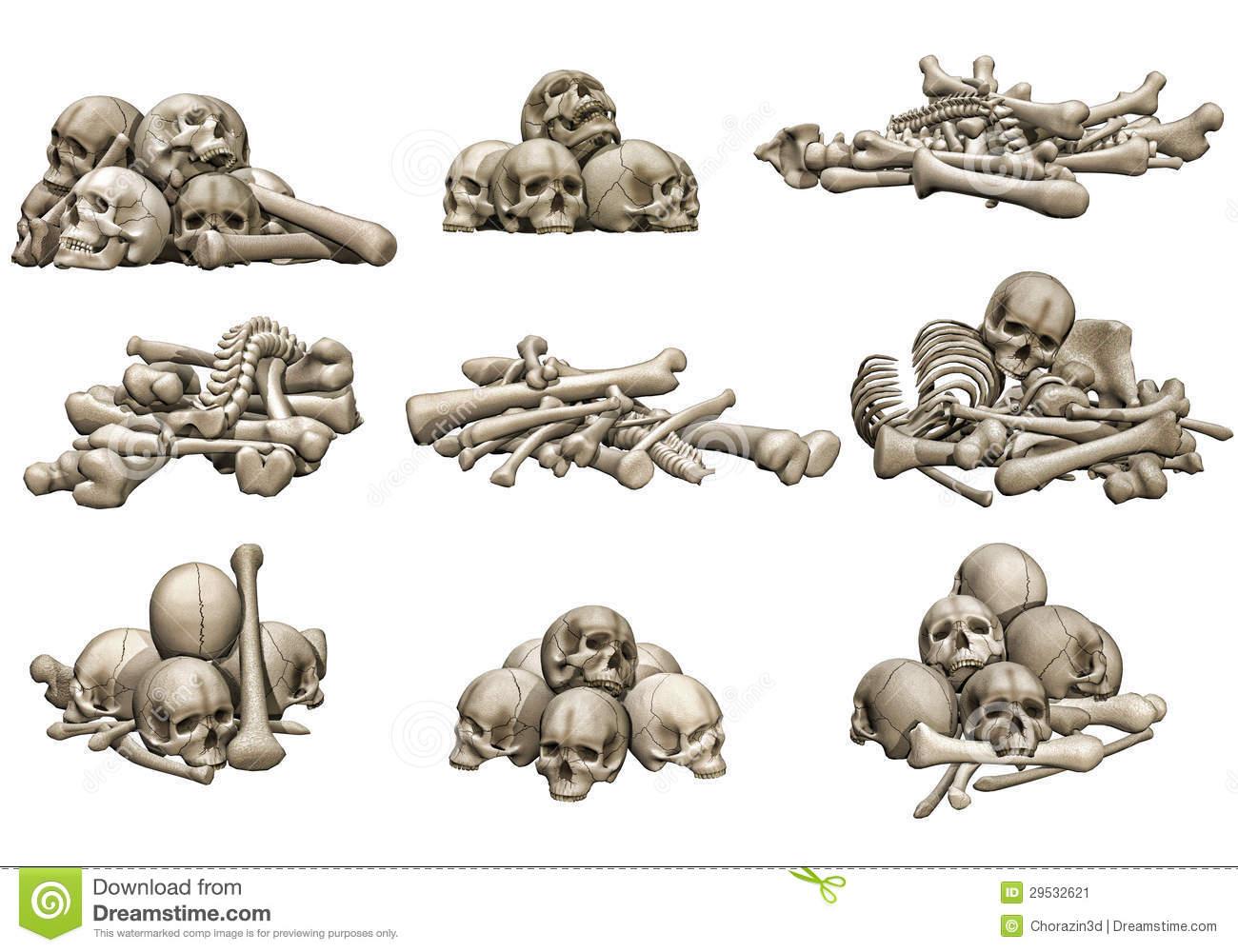 1300x1000 Pile Of Skulls Drawing