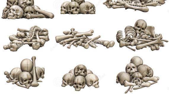 570x320 Pile Of Skulls Drawing Pile Of Bones