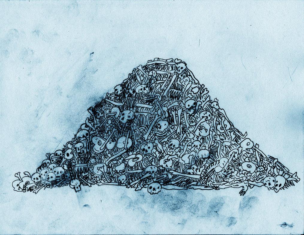 1015x787 Pile Of Bones By Bobbymono