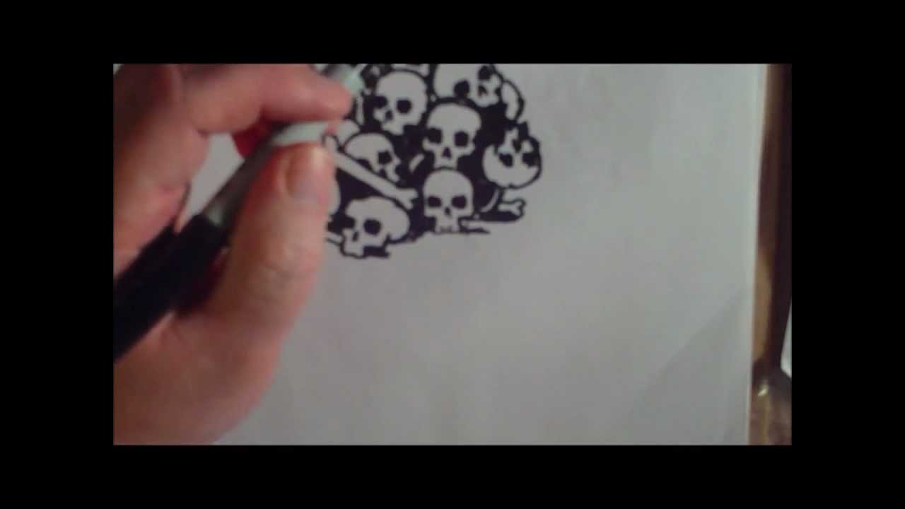 1280x720 Pile Of Skull Speed Drawing
