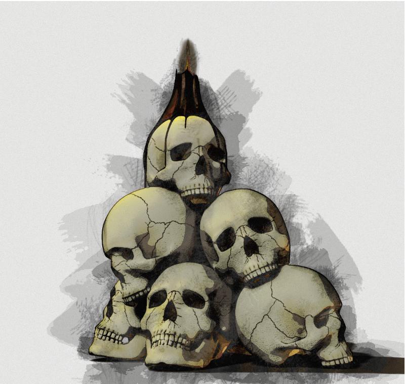 800x760 Pile Of Skulls By Arniespace