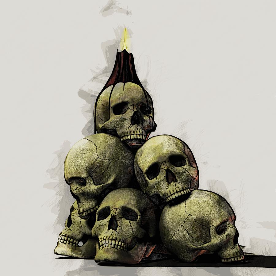 900x900 Skull Pile 04 By Arniespace