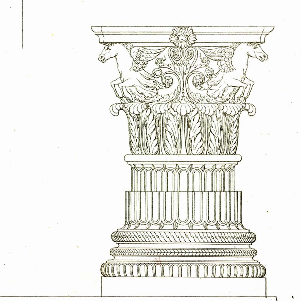 1031x1031 1842 Andrea Palladio Architect Drawing 170 By Carambasvintage