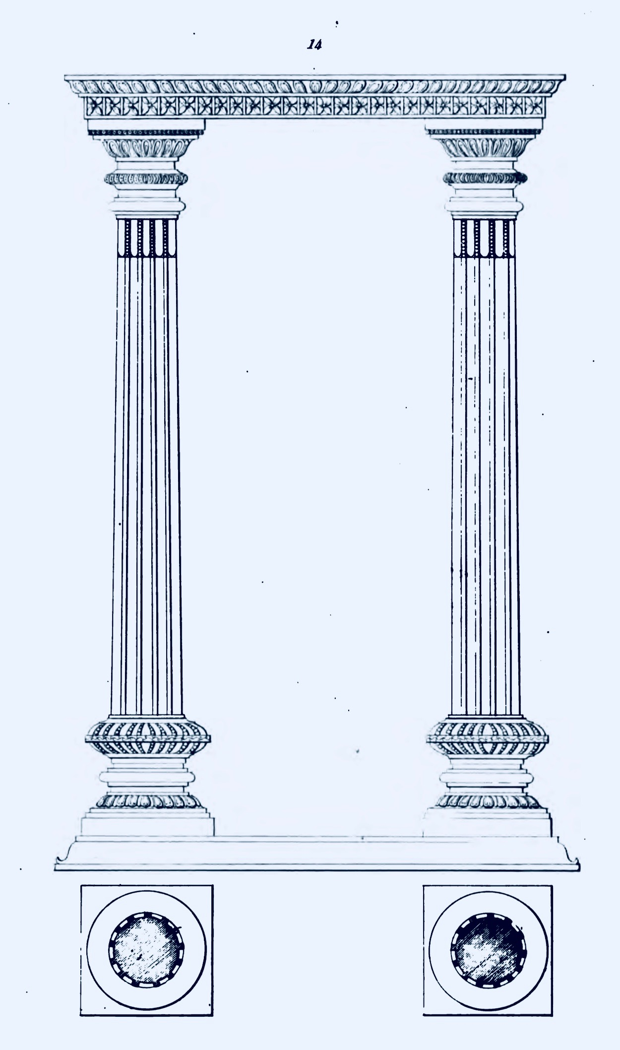 1250x2116 File1834 Sketch Of Pillar Elements In Hindu Temple Architecture