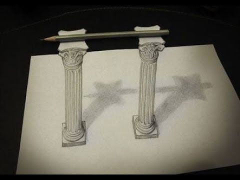480x360 How To Draw 3d Drawing Pillar Drawing Step By Step3d Modelseasy