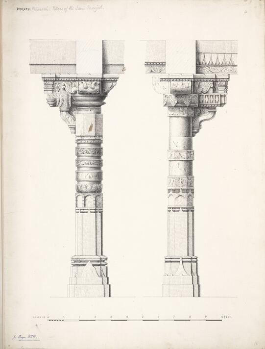 541x712 Gujarat History On Twitter 140 Years Old Drawing Pillars