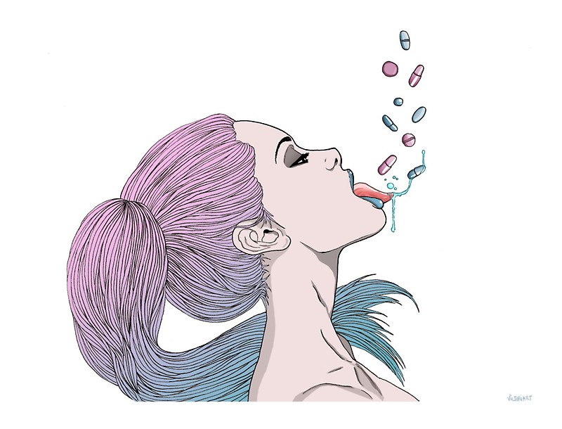 800x610 Tumblr Pills Girl Stickers By Queenvvivy Redbubble