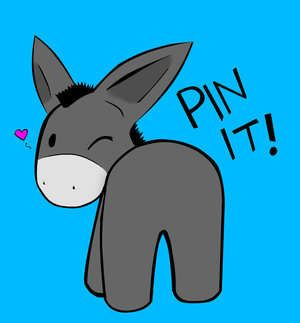 Pin The Tail On Donkey Drawing At Getdrawings Free
