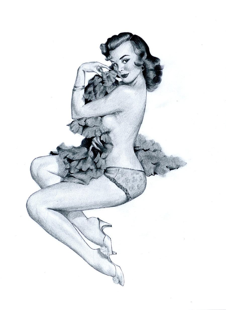 900x1235 Sexy Pin Up Girl Sketches (28) Artpinup Girl
