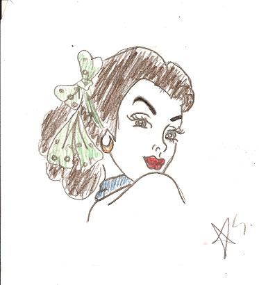 373x410 Pin Up Girl's Face By Old School Pin Up