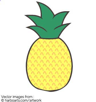 335x355 Download Cute Pineapple Drawing