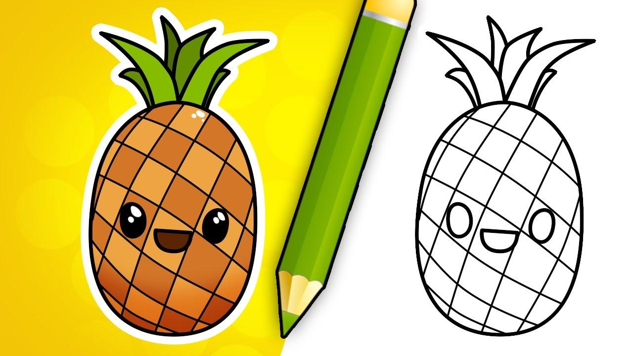 1280x720 How To Draw Cartoon Pineapple