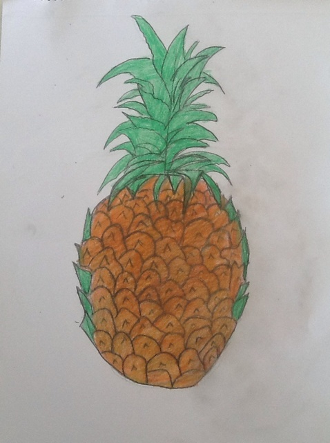 478x640 How To Draw A Pineapple