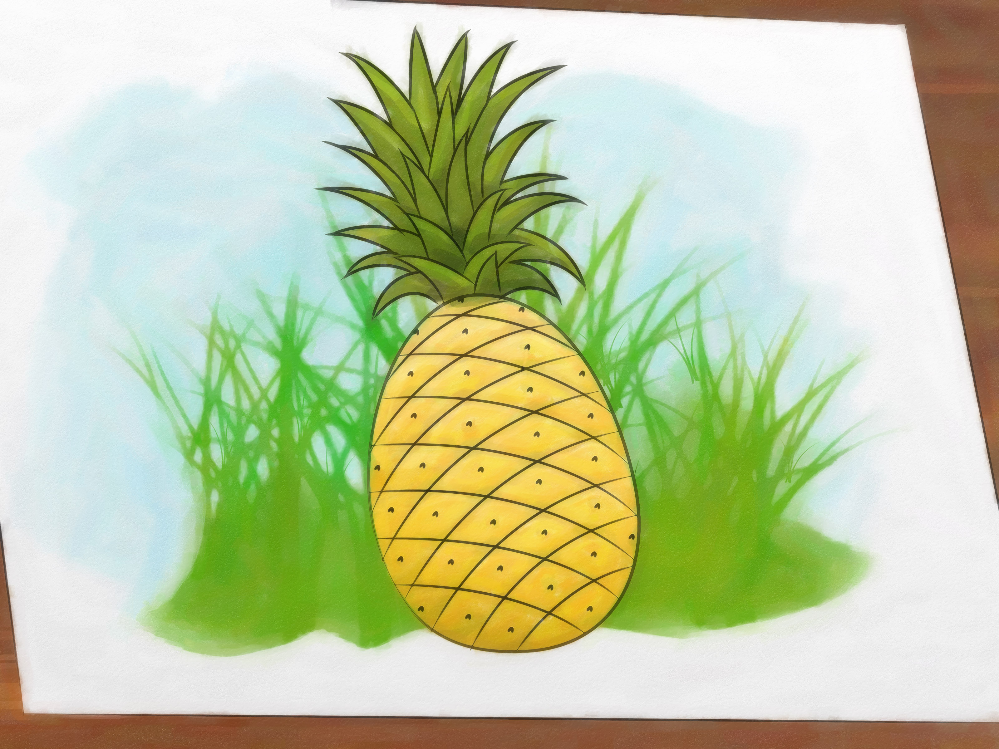 3200x2400 How To Draw A Pineapple 9 Steps (With Pictures)
