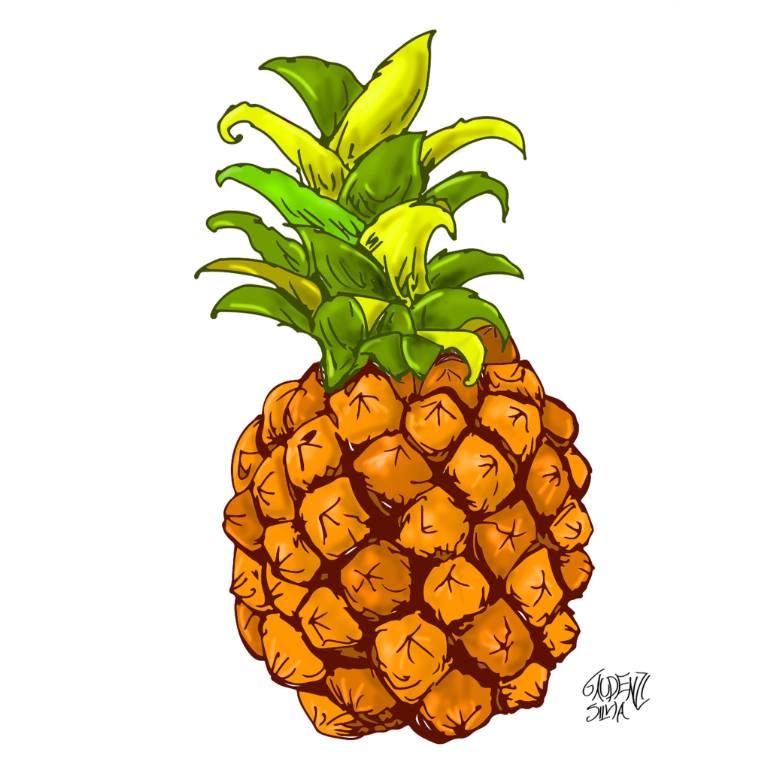 770x770 Saatchi Art Color Pineapple Drawing By Silvia Gaudenzi