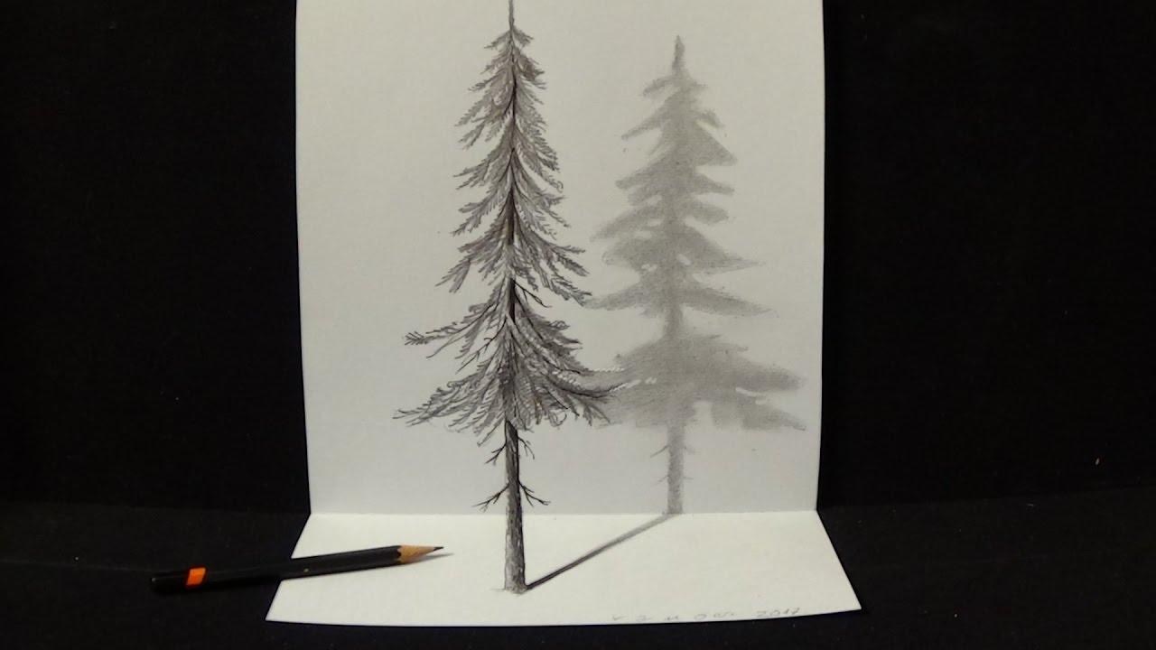 1280x720 How To Draw Pine Tree
