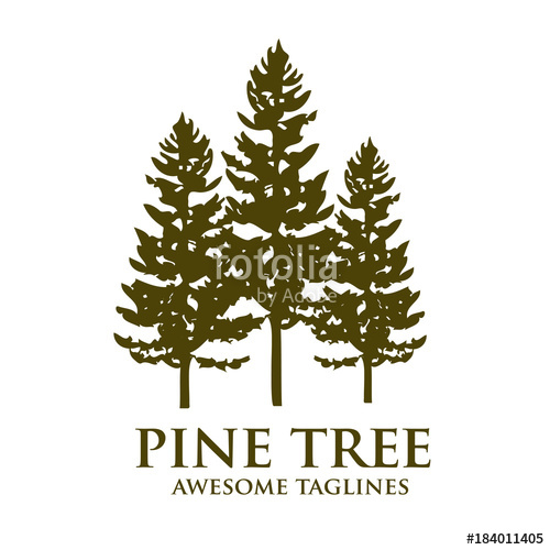 500x500 Pine Tree Outdoor Travel Green Silhouette Forest Logo , Natural