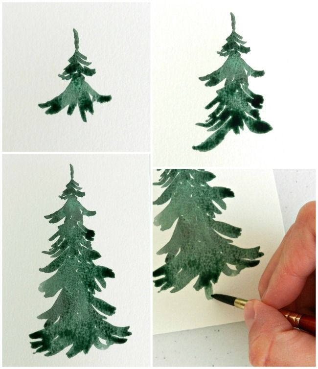 650x754 How To Paint Trees Detailed Instructions Craft