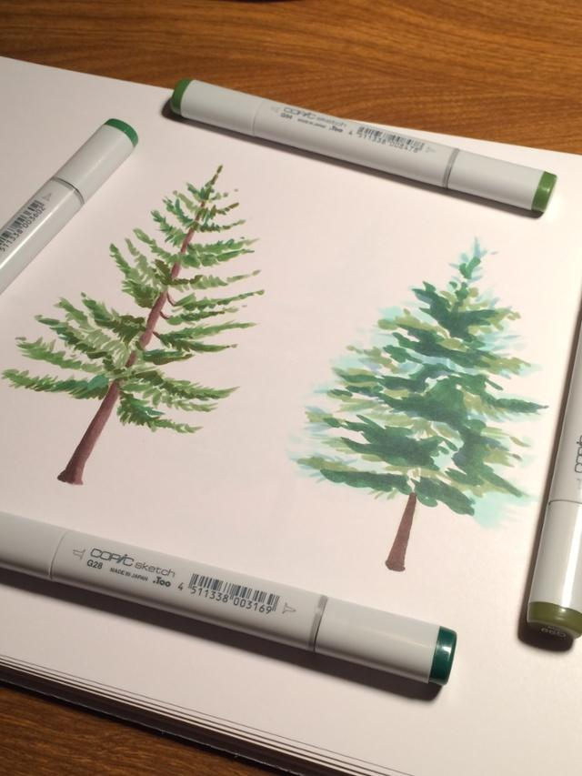 640x853 How To Draw Trees With Copic Markers [Video] Copic