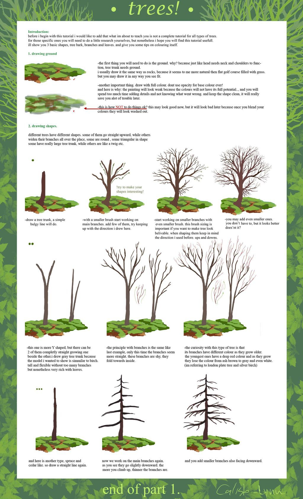 1024x1685 Trees On Drawing Tutorials