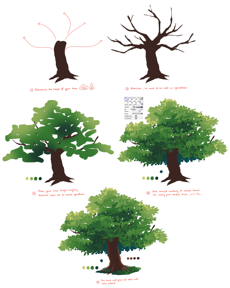 750x941 Lesson On Painting A Tree