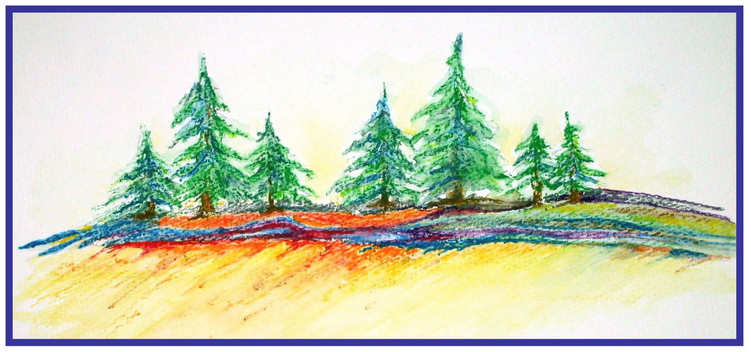 Pine Tree Pencil Drawing at GetDrawings.com | Free for personal use ...