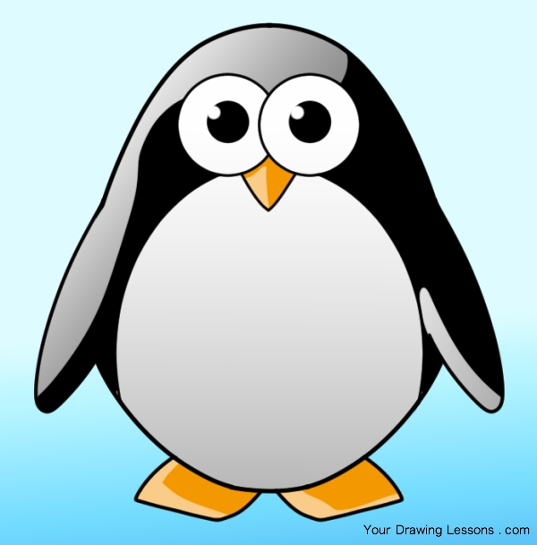 600x609 How To Draw A Penguin Your Drawing Lessons