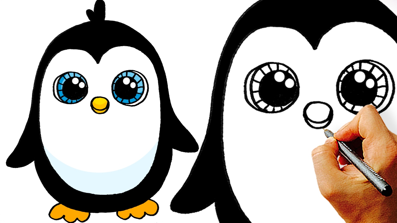 1280x720 Very Easy! How To Draw A Cute Cartoon Penguin. Art For Kids!