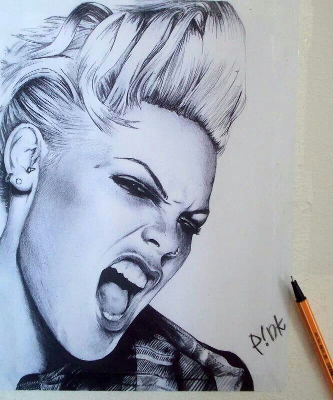 666x798 22 Best Party With P!nk Images On Celebrity Portraits