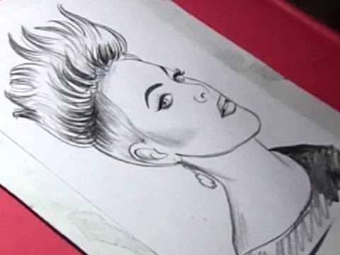 480x360 How To Draw American Singer And Songwriter Pink Drawing