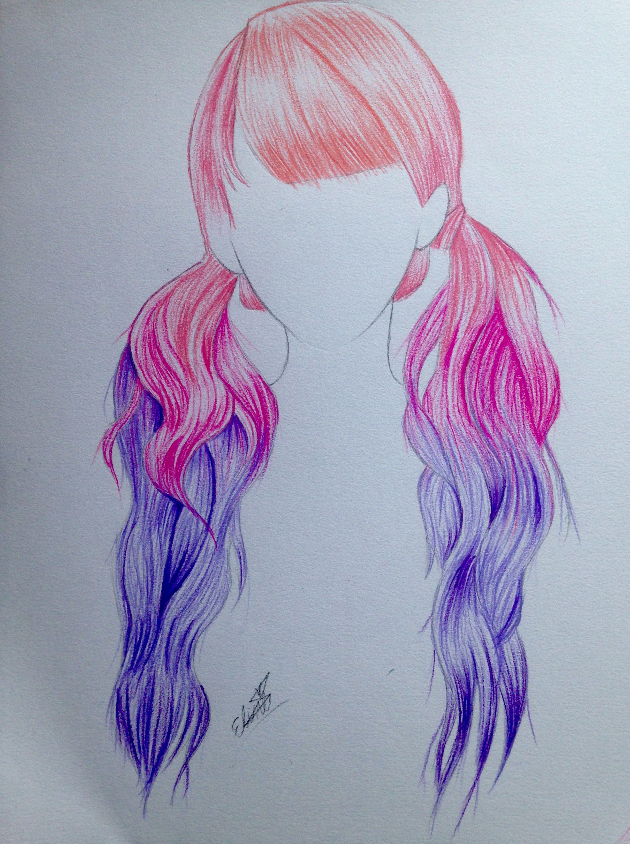 2437x3264 Pink Purple Hair Drawing Hair Ideas Pink