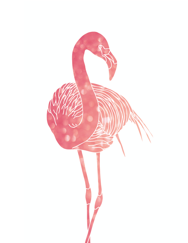 612x792 Oh So Lovely Blog More Free Pink Flamingo Printables! Ivy's 1st
