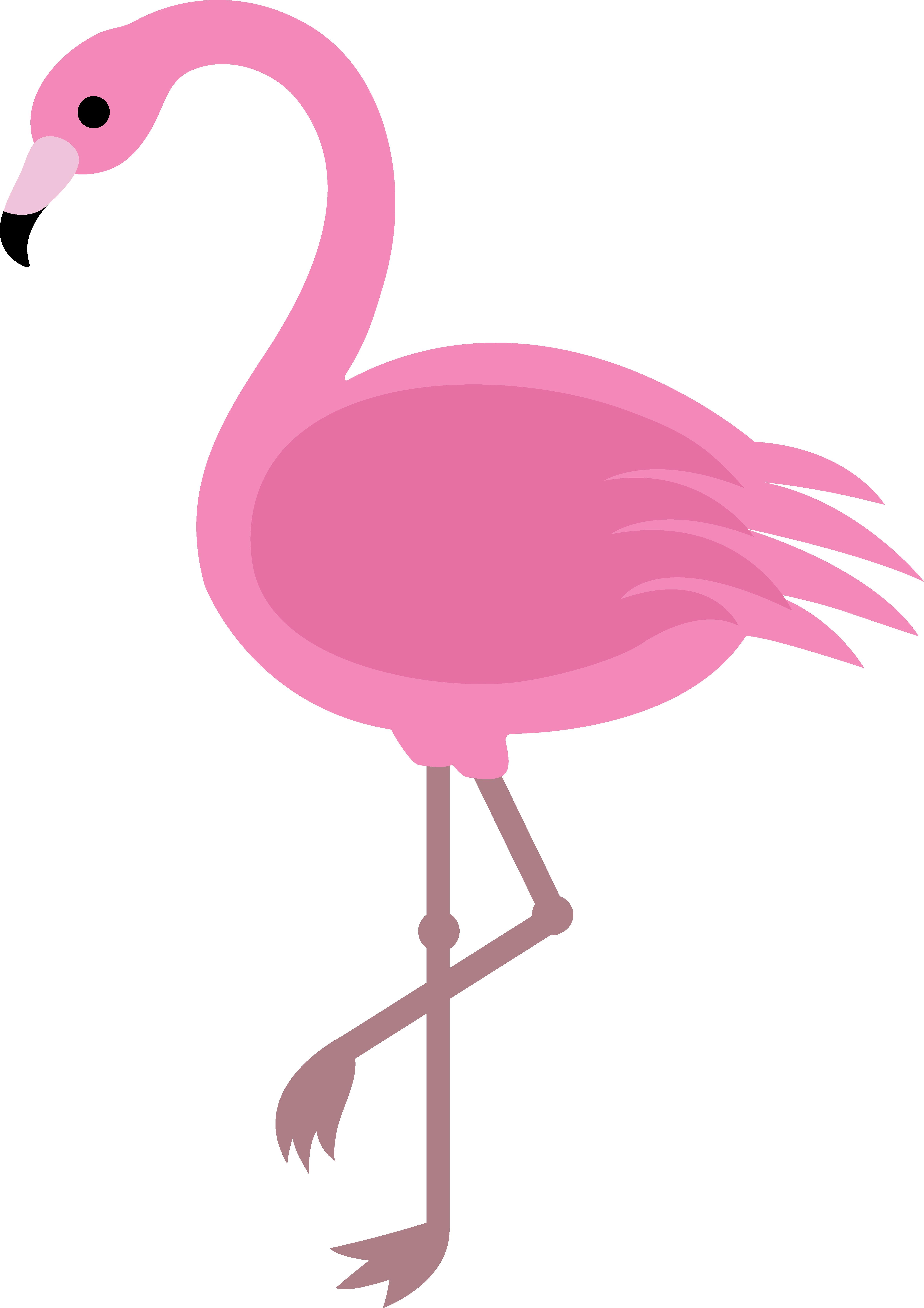 4712x6666 Pink Flamingo Clip Art