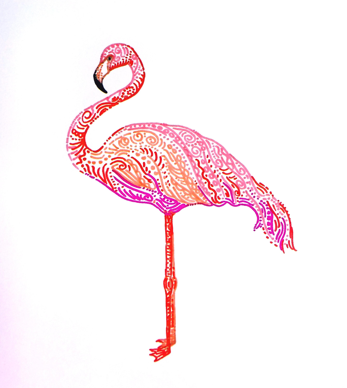 2681x3000 Tropical Pink Flamingo Colorful Flamingo Tropical Birds Pink