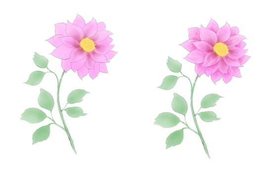 540x350 Pink Flowers Drawing 3 Free Hd Wallpaper