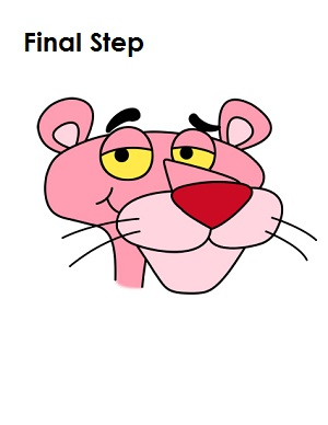 300x388 How To Draw Pink Panther Final Step Kid Stuff Pink