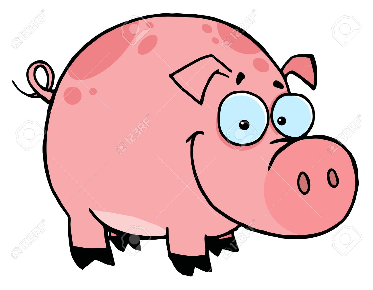 Pink Pig Drawing at GetDrawings.com | Free for personal use Pink Pig ...