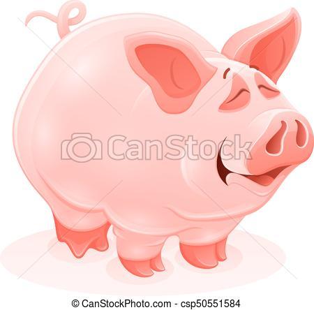 450x444 Pink Piggy Young Cartoon Animal Vector. Pink Piggy Young Vector