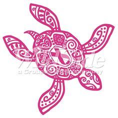 236x236 Pink Ribbon Drawing