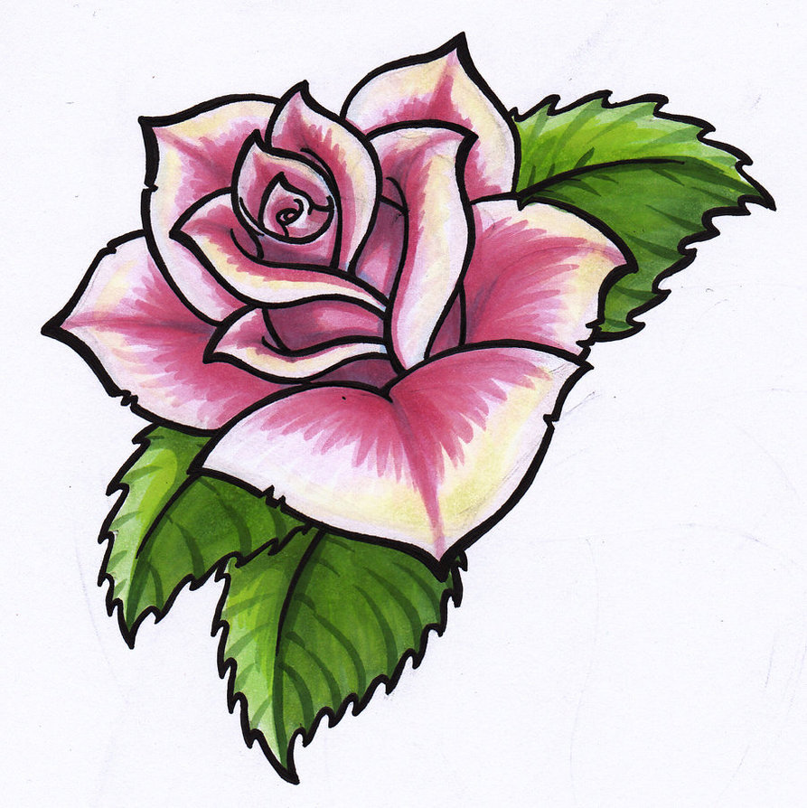 893x894 Hoontoidly Simple Pink Rose Drawing Images
