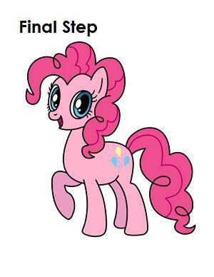 300x388 Draw Pinkie Pie Final Step Draw Pinkie Pie, Pony