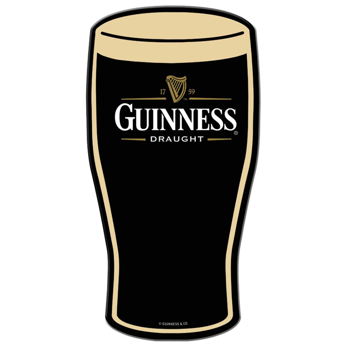 1200x1200 Guinness Pint Glass Die Cut Metal Sign Irish Beer Signs