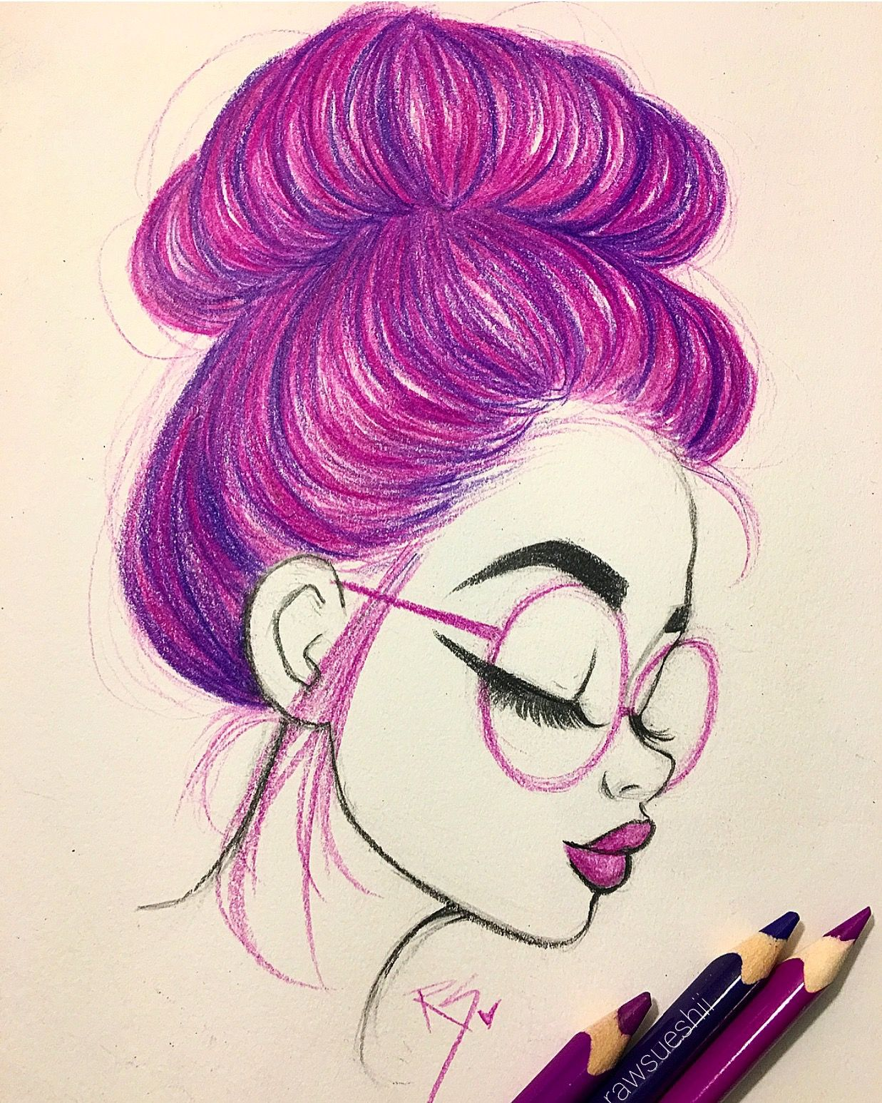 1237x1546 Learn How To Draw Hair In A Bun With Christina Lorre'