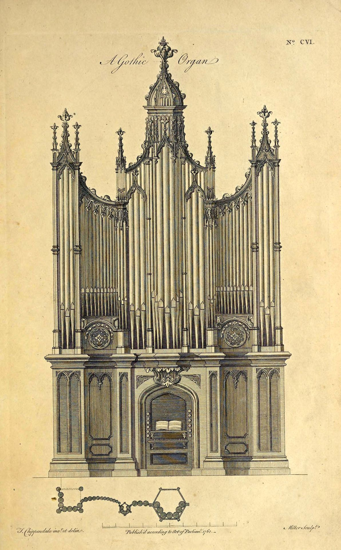 1192x1920 Design For A Gothic Organ, England Architecture Sketches