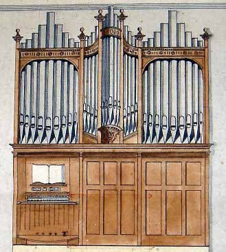 329x366 Original Drawing Of A Peter Conacher Pipe Organ From 1900