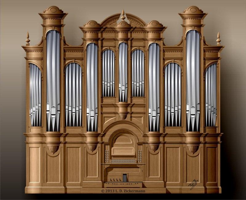 800x652 Podolsk Art Center, Pipe Organ Design Coll Style